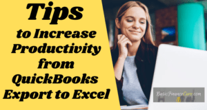 Tips to Increase Productivity from QuickBooks Export to Excel