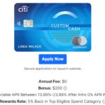 Citi Custom Cash